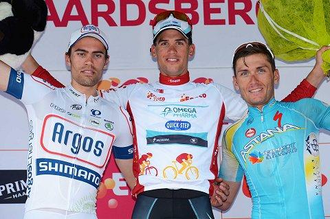 2013 OPQS - Eneco stage 7 - Stybar podium