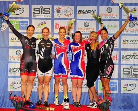 2013 World Masters Womens Team Sprint Podium_small