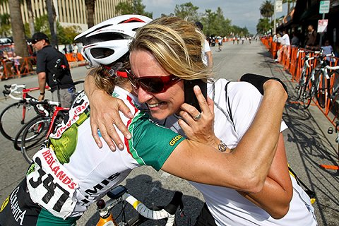Rachel_Congratulating_Rider_at_Redlands_2011