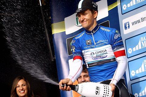 140314 OPQS Tirreno Adriatico Stage 3 PodiumLeader Jersey KWIATKOWSKI (c) Tim De Waele