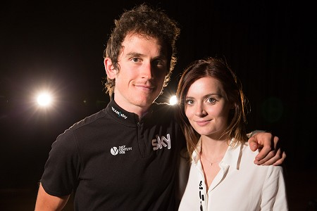 Geraint Thomas and Sara Elen Thomas