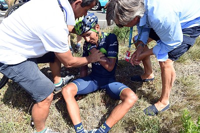 Stage 11. Quintana injured