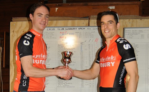 CCS Hillclimb Champ Lee Ford receives Trophy from CCS Event Organiser Jonathan Weatherley Oct 2014