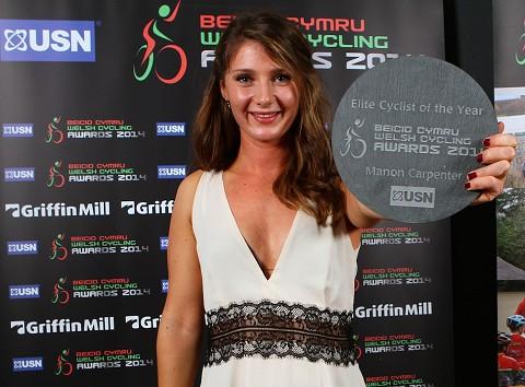 Elite Cyclist of the Year Manon Carpenter