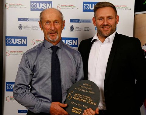 Lifetime Contribution to Cycling John Lloyd MBE Karl Bickly from USN