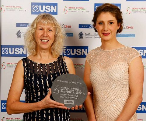 Volunteer of the Year Mary Trenfield and Manon Carpenter